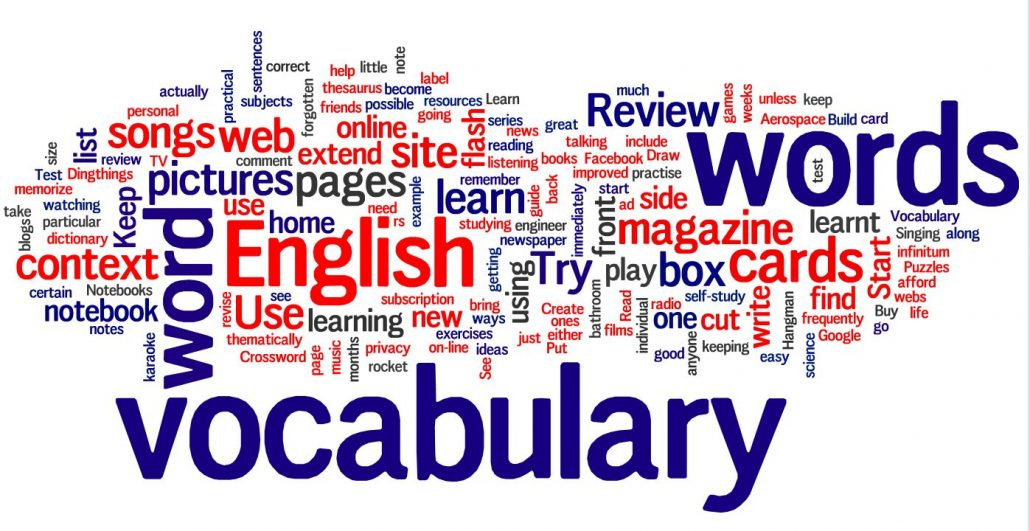 vocabulary and learning in English